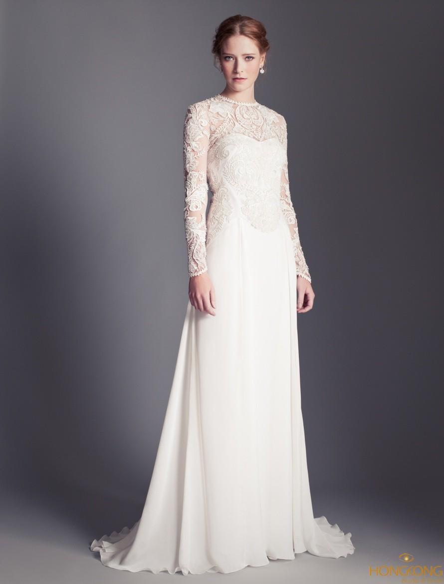 váy cưới dáng suông