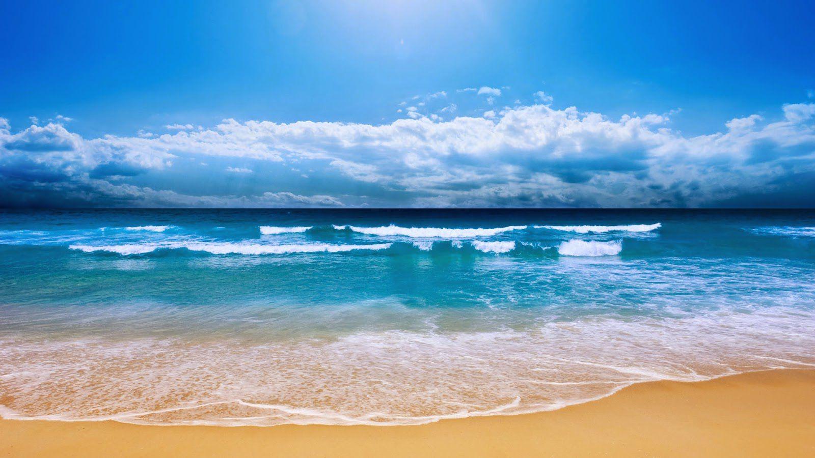 Bờ biển dài cát trắng
