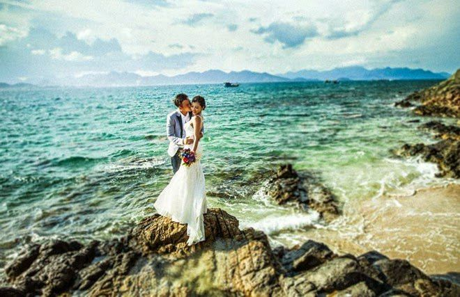 Khung cảnh lãng mạn bên bờ biển