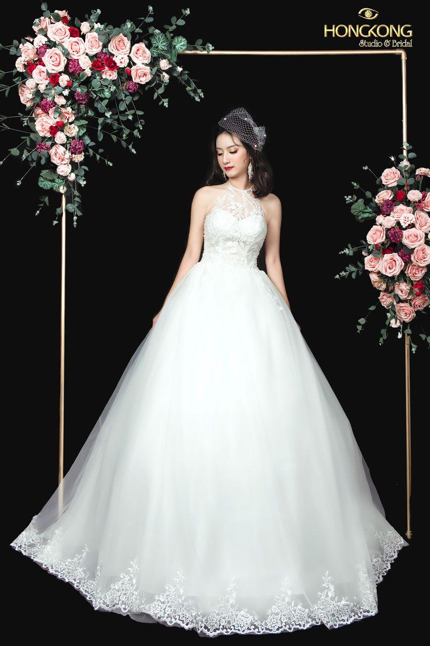 chọn váy cưới đẹp dáng quả táo