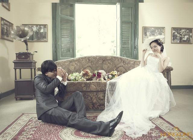 chụp ảnh cưới cổ điển kết hợp hiện đại