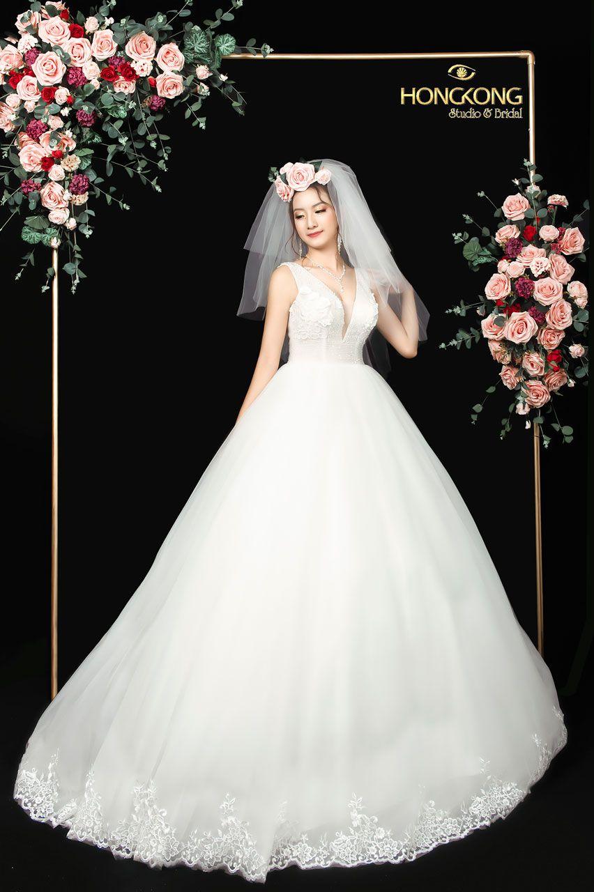 chọn váy cưới đẹp dáng quả cầu pha lê