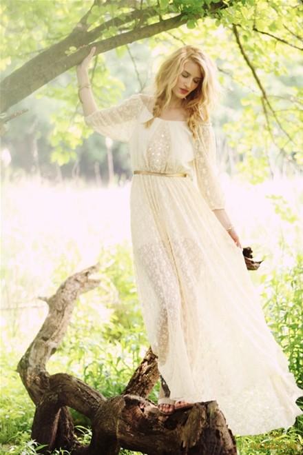 váy cưới maxi
